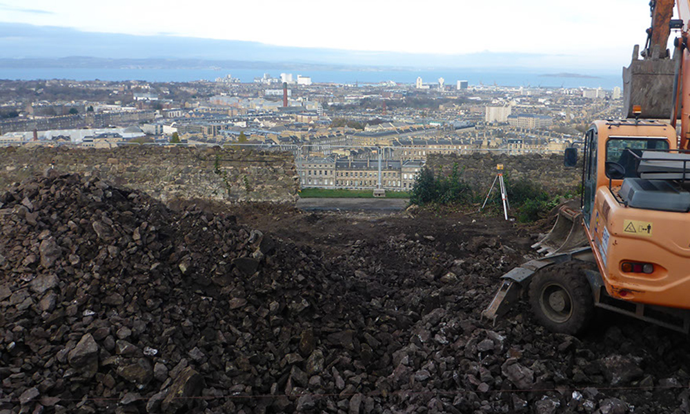 Calton Hill Basalt Rock