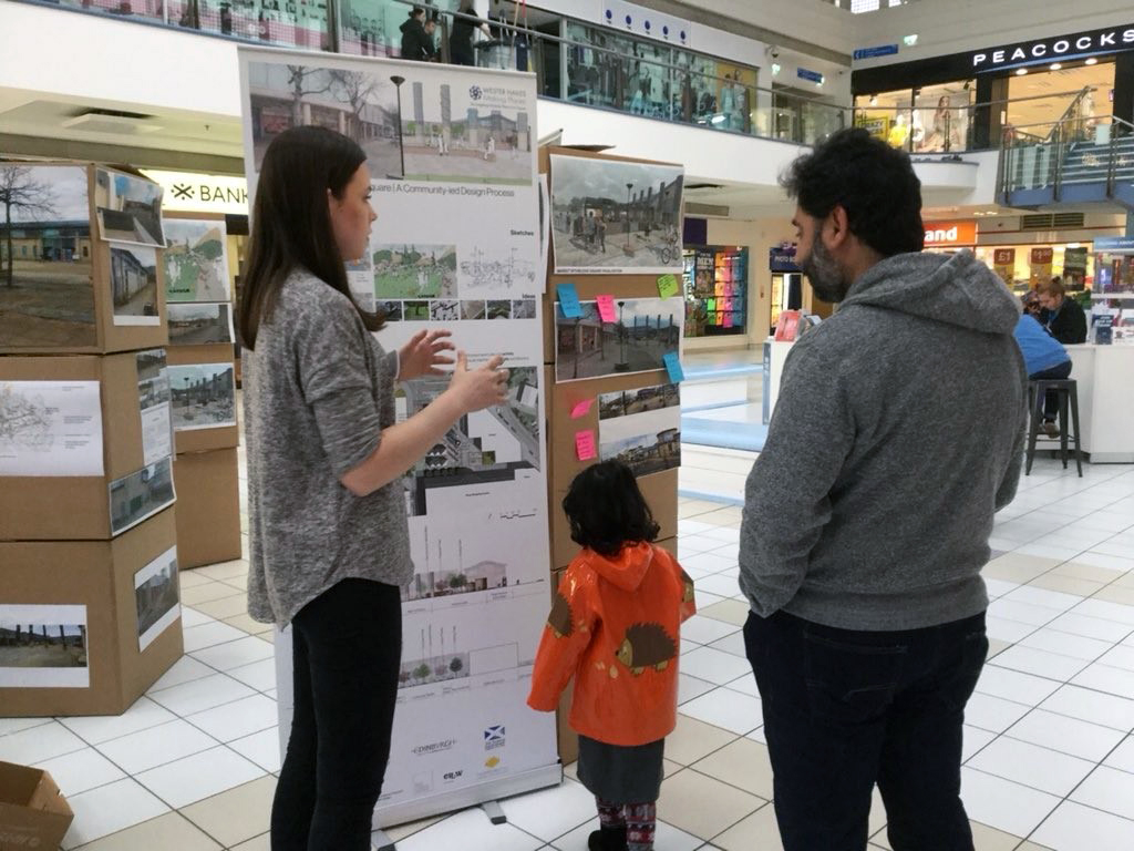 Mhairi at the Westside Plaza Community Engagement